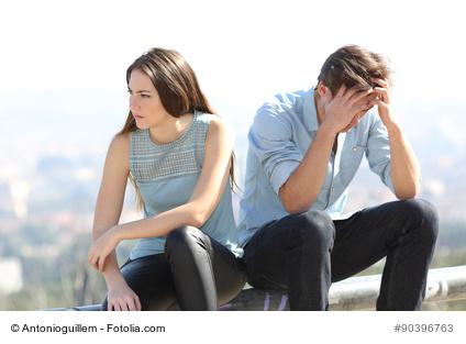 Unzufriedenheit <br>in der Beziehung